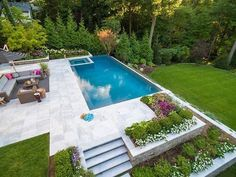 Having a pool sounds awesome especially if you are working with the best backyard pool landscaping ideas there is. How you design a proper backyard with a pool matters. Backyard Pool Landscaping, Backyard Pool Designs, Landscaping Ideas, Landscaping Company, Swimming Pools Backyard, Swimming Pool Designs, Infinity Pool Backyard, Backyard With Pool, Small Pool Design