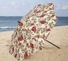 Love this umbrella from Pottery Barn -- and on sale, too!  Round Umbrella - Rosie Floral #potterybarn
