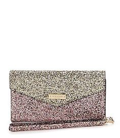 kate spade new york Skyline Glitter iPhone 7 Envelope Wristlet #Dillards