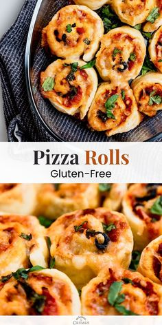 Gluten-free pizza rolls recipe. Learn how to make gluten-free pizza dough from scratch and create soft and fluffy pizza rolls. This gluten-free recipe is very easy to follow and is a crowd-pleaser. Best Gluten Free Recipes, Gluten Free Recipes For Dinner, Gluten Free Pizza, Gluten Free Baking, Vegan Recipes, Dinner Recipes, Pizza Recipes, Healthy Appetizers, Appetizer Recipes