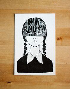 Happy Birthday Fan/Wednesday Addams! on Behance