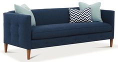 Claire  Bench Cushion Sofa by Rowe