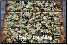 MAMA'S HOME BAKERY: abril 2014 - Pizza de Calabacín-Feta-Albahaca