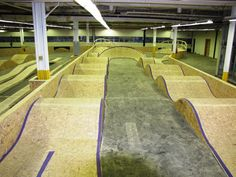 Last week I got a sneak peek at Canada's first indoor bike park, Joyride When Bob_the_Builder found out I was going to Joyride 150 ahead of the Surfboard Skateboard, Skateboard Ramps, Jump Park, Skate Park, Scooter Bike, Bicycle Race, Backyard Playground, Backyard For Kids, Bmx Ramps