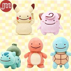 """Find More Movies & TV Information about New Pokemon Pikachu Squirtle Charmander Bulbasaur Clefairy Ditto Metamon Plush Toy 5"""" Anime Baby Dolls Kids Gift Brinquedos,High Quality doll fan,China toy projector Suppliers, Cheap doll baby toy from M&J Toys Global Trading Co.,Ltd on Aliexpress.com"""