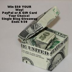 #Win $50 your way!! GC? Okay! Target? Walmart? Home Depot? iTunes? Best Buy? OR $50 PayPal. Your choice! Single Blog Giveaway!! Open world wide for PayPal  9/30