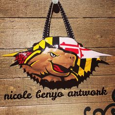 Maryland Terrapins Hand Painted Crab Shell by NicoleBenyoArtwork on Etsy https://www.etsy.com/listing/219153862/maryland-terrapins-hand-painted-crab