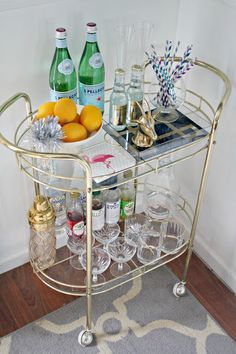 drink cart...Except I would put it in the bathroom and use it for toiletries, paper towels, lotion, etc!!!