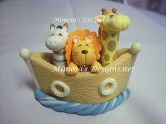 Noah's+Ark+Cake+topper.+Noahs+Ark+Baby+Shower+by+MimosasDesigns,+$14.95