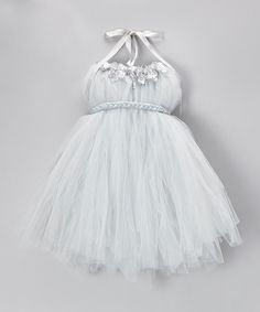 Silver Tulle Tutu Dress - Infant, Toddler & Girls #zulily #zulilyfinds