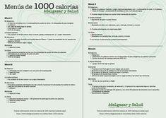 Dieta 1000 calorias fisterra