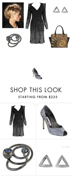 """""""Galactic"""" by amory-eyre ❤ liked on Polyvore featuring Christian Lacroix, Manolo Blahnik, Eddie Borgo and Coco's Liberty"""