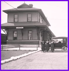 LINDSAY, Ontario - Grand Trunk  Railway station photo 1921