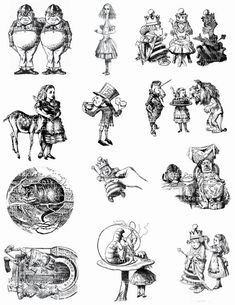 Alice in Wonderland - Original illustrations