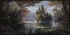 Forest Painting, Jordi Gonzalez Escamilla on ArtStation at https://www.artstation.com/artwork/forest-painting