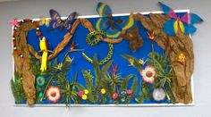 jungle theme classroom | Tagged with Bulletin Board , Classroom , Jungle , Rainforest .