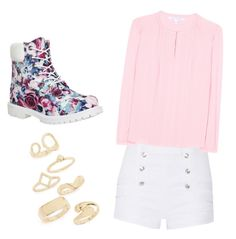 """""""Hope"""" by lenapena2016 on Polyvore featuring Pierre Balmain, Timberland, Diane Von Furstenberg and Topshop"""