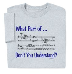 """""""Score"""" points with this What Part of Music T-shirt. Perfect as a music teacher gift!"""