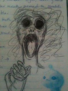 Drawing ideas creepy horror 68 super Ideas - New Pin Creepy Sketches, Scary Drawings, Demon Drawings, Dark Art Drawings, Halloween Drawings, Drawing Sketches, Drawing Ideas, Creepy Halloween, Arte Horror