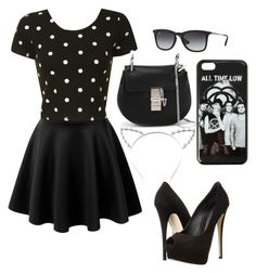 """""""Black #2"""" by gurveenpanesar ❤ liked on Polyvore featuring LE3NO, Glamorous, Giuseppe Zanotti, Chloé, Ray-Ban and Candie's"""