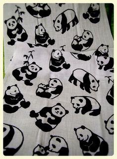 panda tenugui: panda japanes Bandana