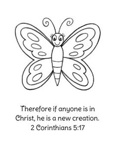 'Jesus gives new life' caterpillar & butterfly bookmarks