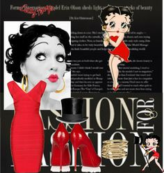 """""""Betty Boop 3"""" by shahoor ❤ liked on Polyvore"""