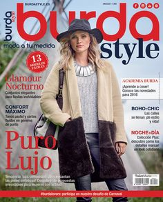 01.2016 Boho Chic, Glamour, Sewing Magazines, Ideias Fashion, Sewing Patterns, Fur Coat, Vest, Jackets, Clothes