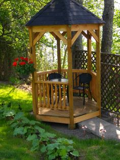 This little Gazebo is where I sometimes like to write in nice weather.  My hubby build it for me.