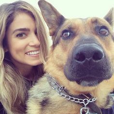 Nikki Reed & her GSD