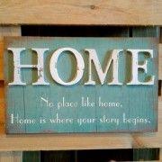 Cartel de madera No Place Like Home 40 x 25