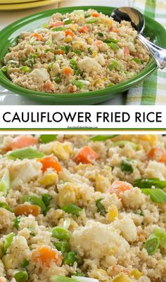 We've come up with a healthier way to enjoy fried rice! Our #lowcarb #Cauliflower Fried Rice recipe packs all the same take-out flavors you love with lots of healthy veggies!