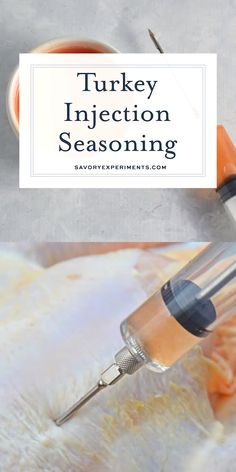 This Homemade Turkey Injection Seasoning is super easy, taking only 5 minutes for a flavorful and sweet bird just like the Cajun injector from the store! Turkey Injector Recipe, Best Turkey Rub Recipe, Fried Turkey Injection Recipe, Meat Injection Recipe, Chicken Injection Recipes, Turkey Injection Marinade, Smoked Turkey Breast Recipe, Turkey Marinade, Turkey Brine