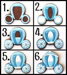 LilaLoa: How To Make Princess Carriage Cookies (Tutorial)