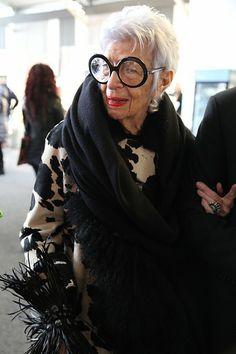 Legendary tastemaker, fashion and style icon Iris Apfel.