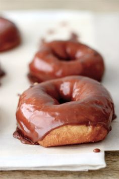 Homemade Chocolate Glazed Donuts for Easter... Yessss.