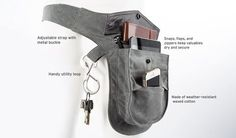 Three-Pocket Wholester Belt Pack