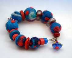 needle felted jewelry | Felted Jewelry and Beads.