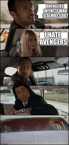 the rock driving and pulp fiction