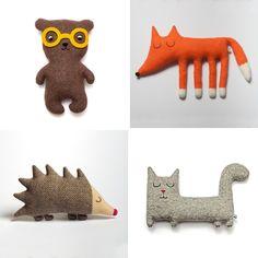 En björn, en katt, en igelkott och en räv - DIY or DIE