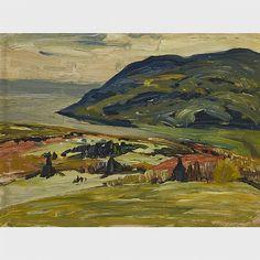 Rene Richard - Baie Saint Paul 9 x 12 Oil on panel Canadian Painters, Saints, Oil, Painting, Landscapes, Santos, Painting Art, Paintings, Paint
