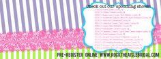 Rock the Aisle Bridal Show Schedule for Spring 2015!  http://www.rocktheaislebridal.com/ #rta #rocktheaislebridal #BridalshowsinNJ #NJBridalShows #BridalShowsinSouthJersey