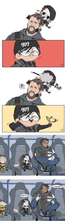 Behind the scenes Rainbow Six Siege Anime, Rainbow 6 Seige, Rainbow Six Siege Memes, Tom Clancy's Rainbow Six, Rainbow Meme, Rainbow Art, Cute Comics, Funny Comics, Rambo 6