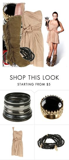 """much music video awards promo."" by valerieking ❤ liked on Polyvore featuring Cyrus, Chanel, Wet Seal, H&M, Isabel Marant, LuisMorais, Report, fringe boots, fringe and cocktail rings"
