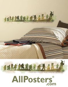 """Celebrate The Hobbit: An Unexpected Journey with these inspiring wall decals. Includes 1 decal. Approximate size assembeled is 37"""" wide x 8"""" high. #ad Hobbit Quotes, An Unexpected Journey, The Hobbit, Custom Framing, Wall Decals, Kids Room, The Originals, Inspiration, Home Decor"""
