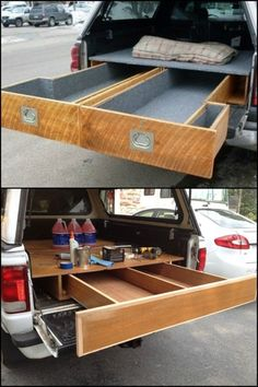 8 Fabulous Useful Tips: Woodworking Tools Power woodworking tools saw projects.Essential Woodworking Tools To Obtain woodworking tools saw projects.Woodworking Tools Storage The Family Handyman. Truck Bed Drawers, Truck Bed Storage, Camping Storage, Camping Hacks, Tool Storage, Garage Storage, Storage Drawers, Diy Storage, Storage Baskets