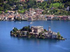 The cutest smallest island. Italy lake Orta Isola San Giulio in Orta San Giulio, Piemonte