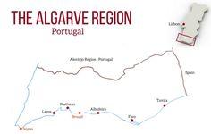 Portugal Algarve Map Algarve destinations