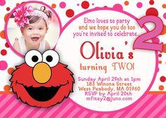 Elmo Birthday Girl Invitation Second Ideas 2nd Parties 1st