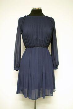 Pleated navy blue vintage dress #bleeckerstreetvintage #vintage